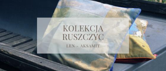 Dekoracyjne poduszki lniane - Niebo i Ziemia - Kolekcja Ruszczyc - Polish Special